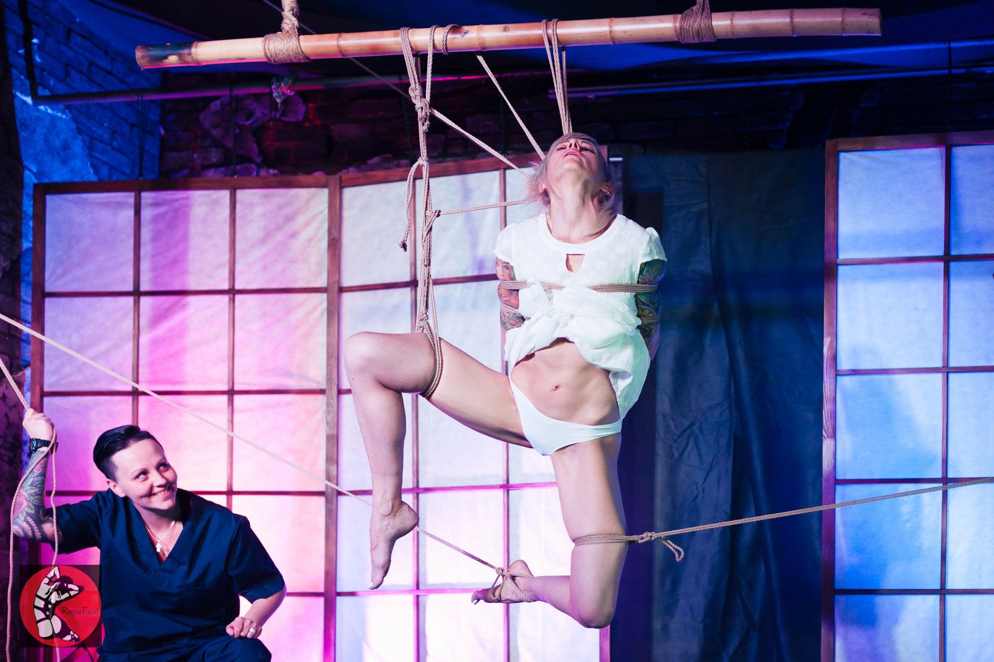 Rope Fest Peterburg . Bondage: Jey Nikk. Photo by Viktor Barkovshikov